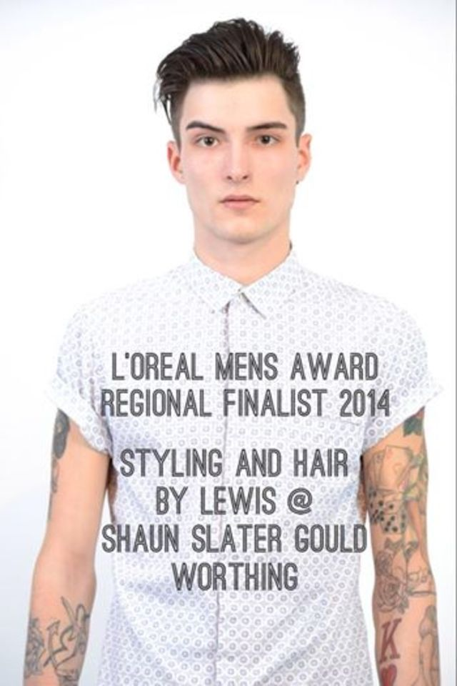 Our L'Oreal Mens Image award model Nathan, We came THIRD for our region :-)