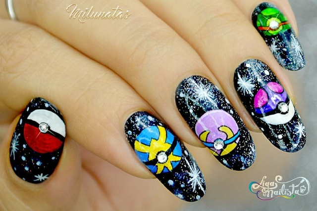 pokemon galaxy nails
