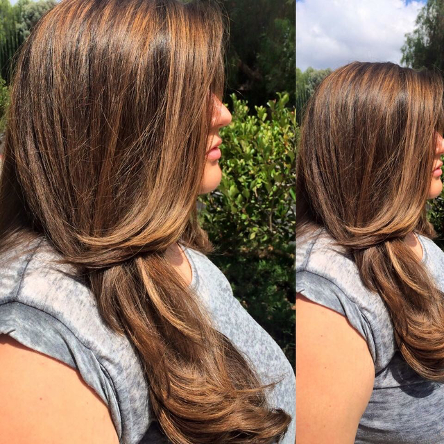Balyage highlights