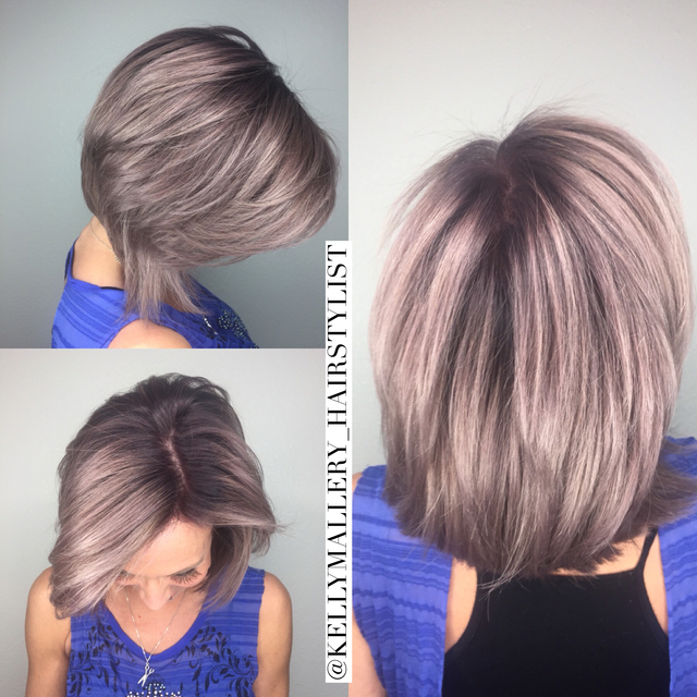 Smokey rooted lavender by Kelly Mallery (@kellymallery_hairstylist) formula on IG