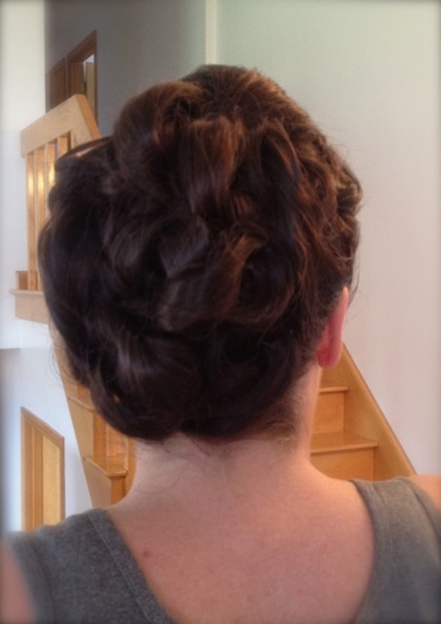 wedding hair - the bride