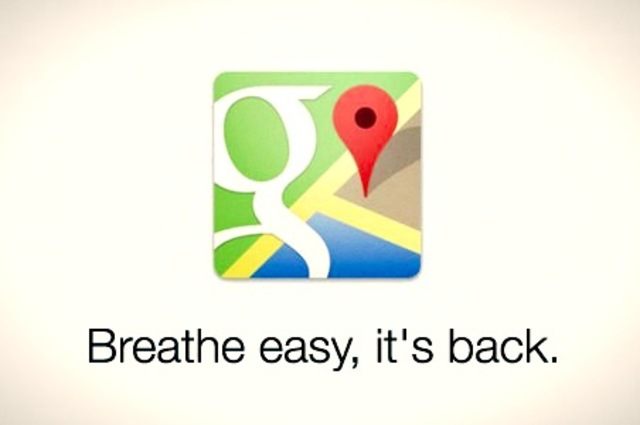 Google Maps returns