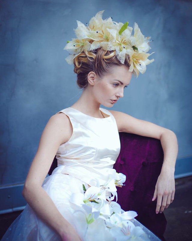 Hair flowers Model: Alicia Linderoth  Hair & Photo: Linda Schuster  Make up: Heléne Karlsson