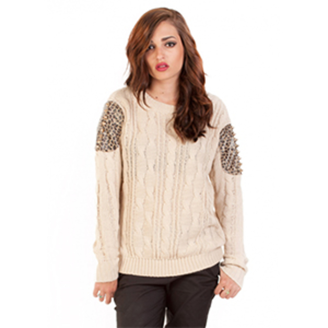 Ambry Lane Spiked Knit Cable