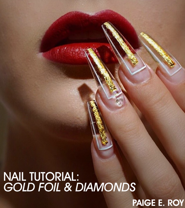 Re sized 5cbe917e29531cc5c69c gold foil nail art tutorial