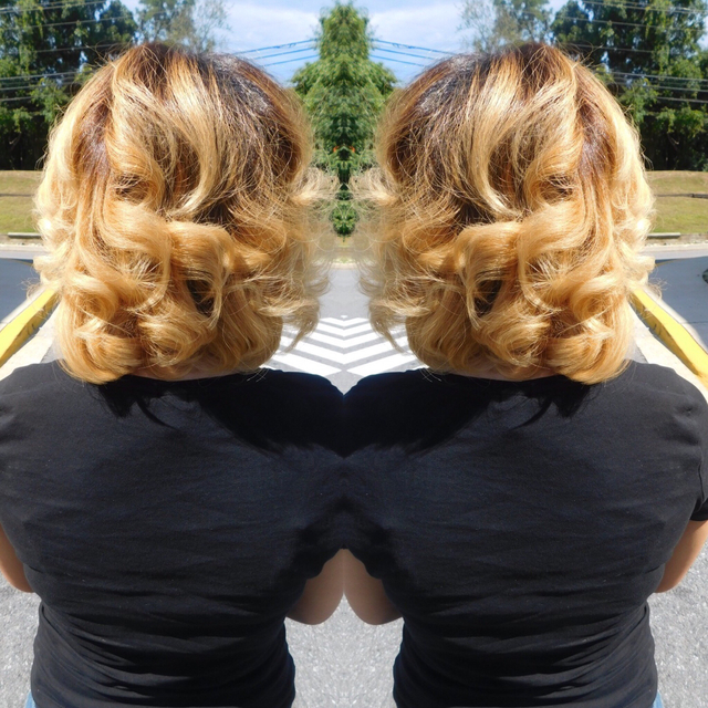Cool blonde balayage