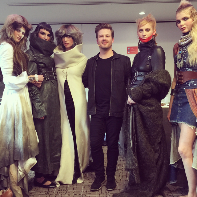 Hair by Clayde Baumann and Darren Ambrose for Wella Professionals on the 2015 TVA Tour.