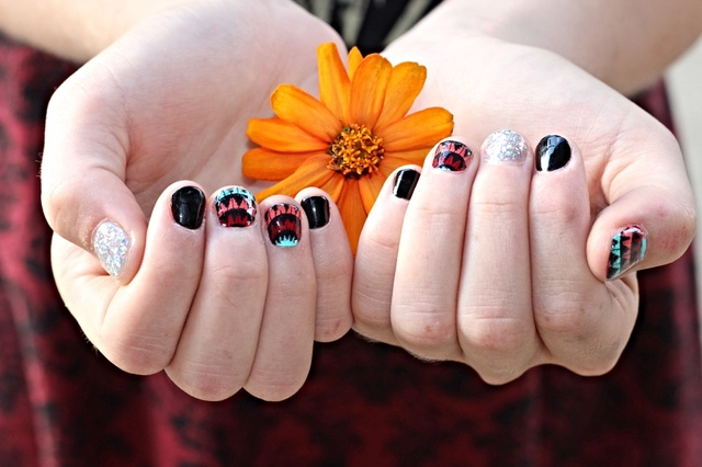 Southwestern inspired nails.   Hair/Makeup/Nails/Photography-Toody Tolley  Model-Lorelei Nor