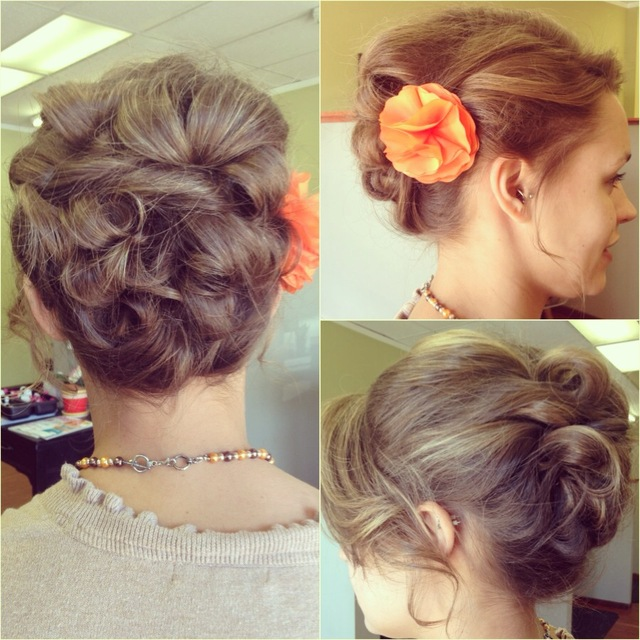 long hair up-do