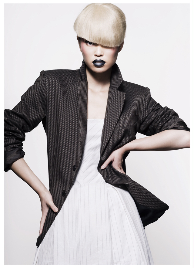 HAIR- Josh Angell PHOTOGRAPHER - Jessica Sim MAKEUP- kei kei  MODEL- red11