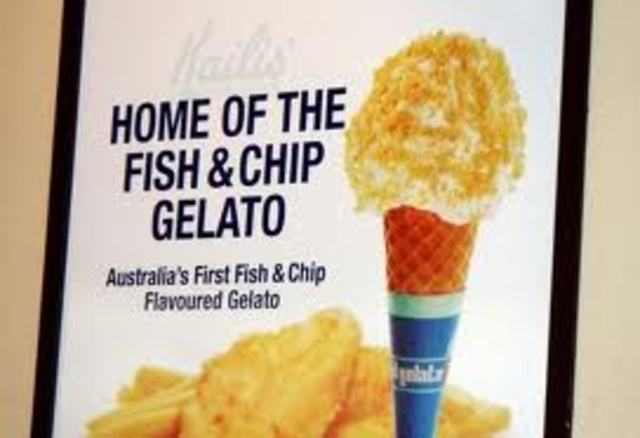 Fish and chips gelato