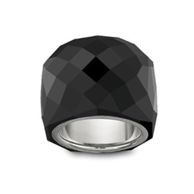 Swarovski Nirvana Black Crystal ring