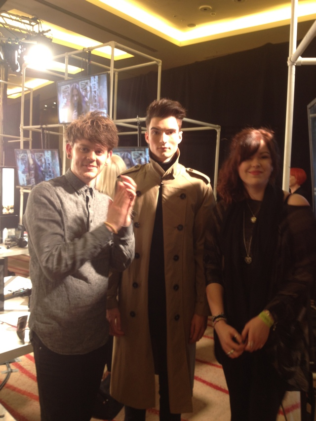 stylist Lewis and colourist Shani with our model Nathan at the Loreal Mens Image Award