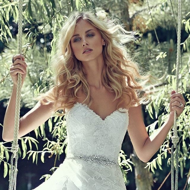 Gorgeous waves for Maggie Sottero bridal campaign