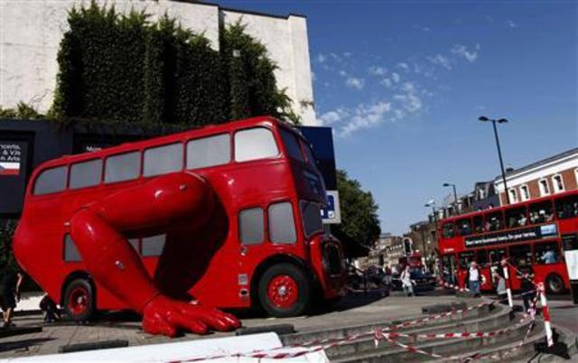 Double-decker London bus reborn as athletic Czech art