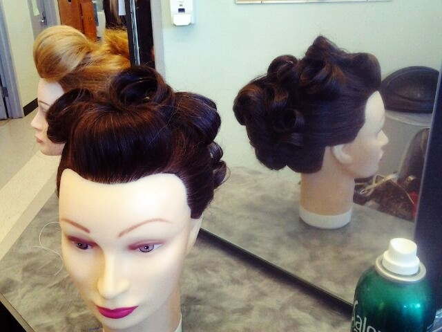 front and back updo