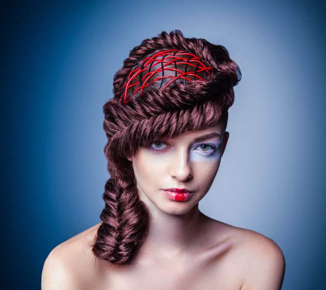 "Hair art with ""Stitch"""