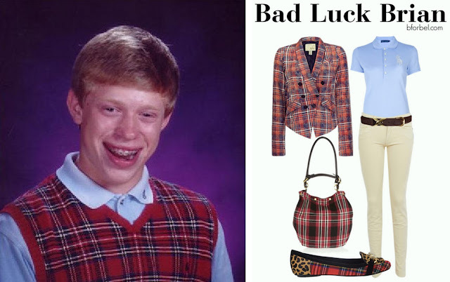 Bad Luck Brian Outfit Collage