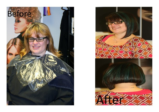 complete hair make over's  competiton winners