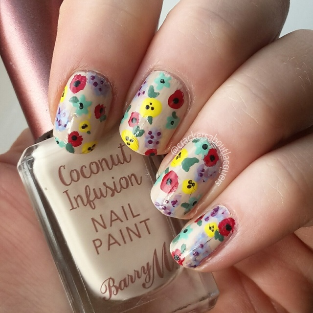 colourful abstract florals