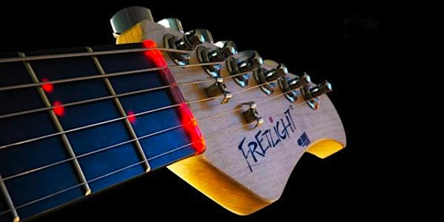 LED fretlight guitar