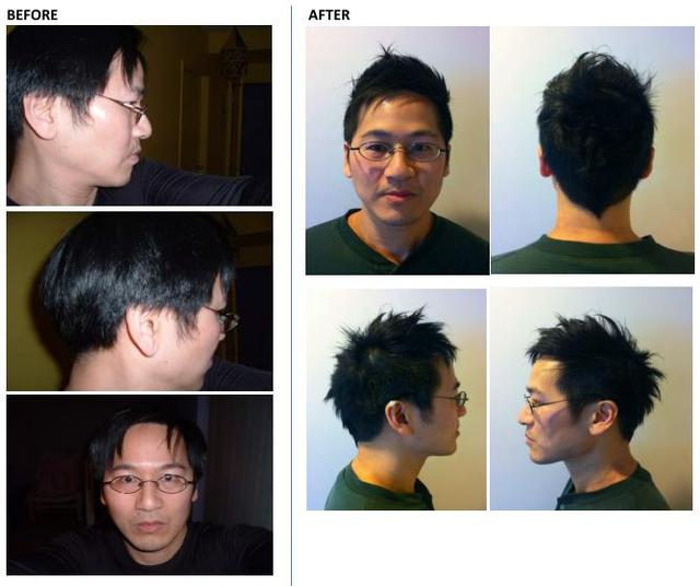 Cut before and after