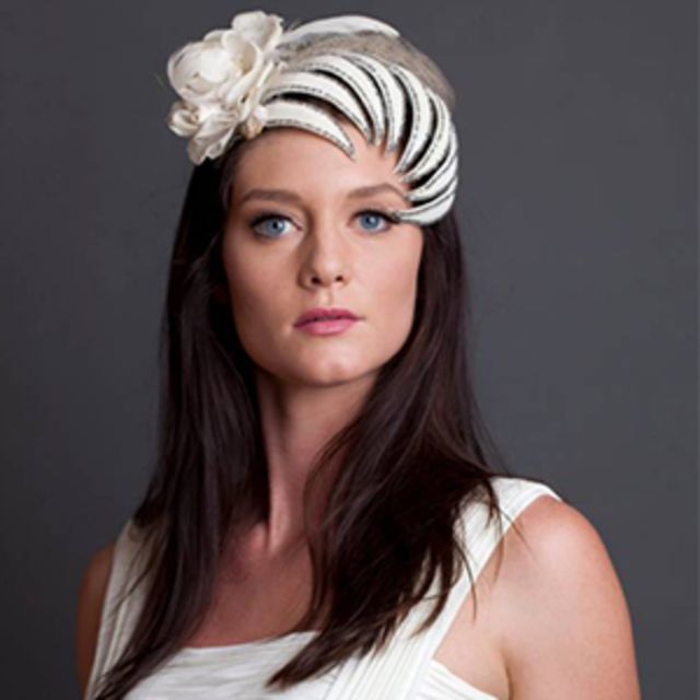Feathered Head Sinclaire Hat Headband