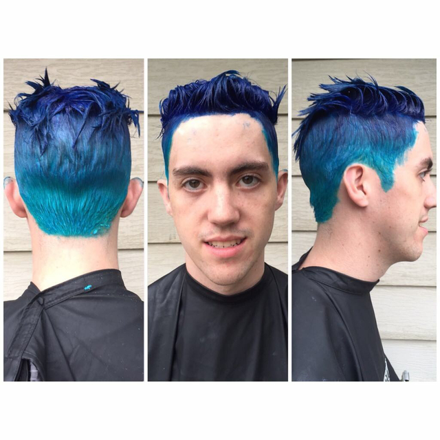 A processing pic of James on his birthday this past August! This was an aqua inspired color correction!