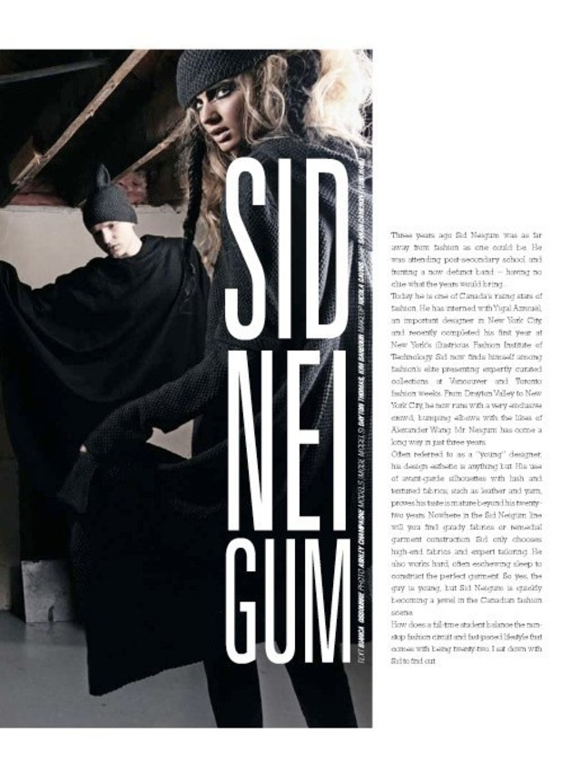 Sid Neigum photo shoot for Georgie magazine