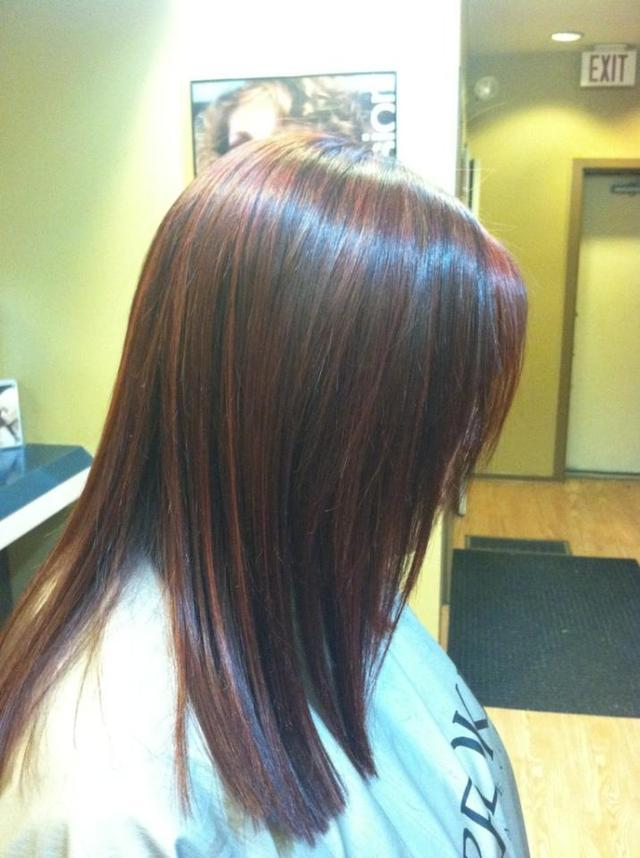 Red lites wit keratin