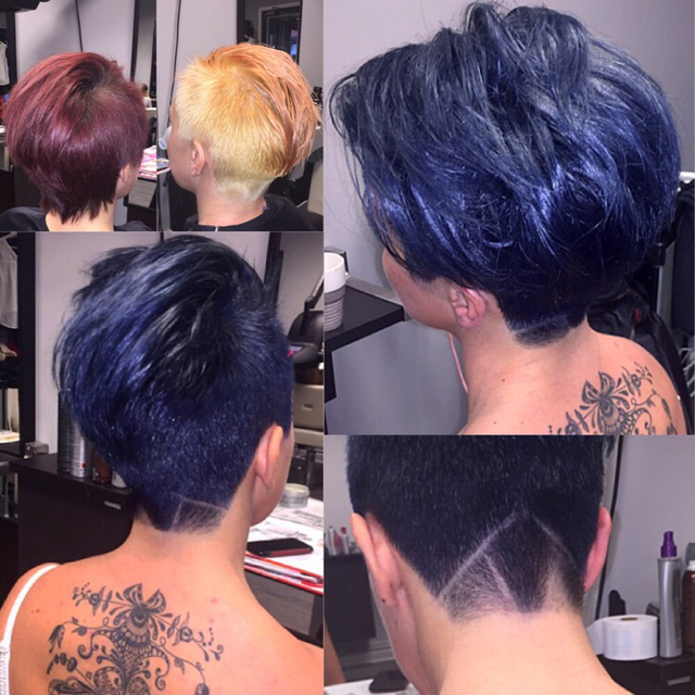 Transformation with Olaplex.....blue hair.