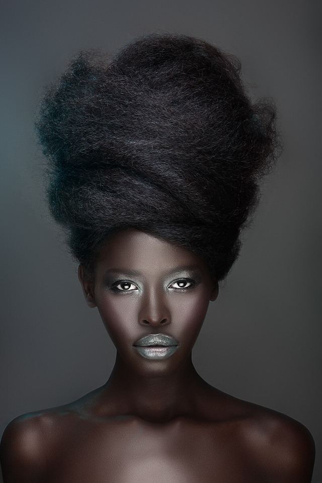 Hair Cassi Young-Paxton • Model Gloria Nyaega • Photography by Adham Abou-Shehada • MUA Joy Macke