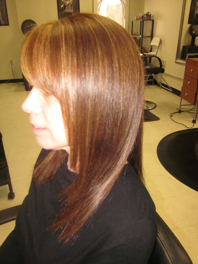 Chocolate brown with caramel tones