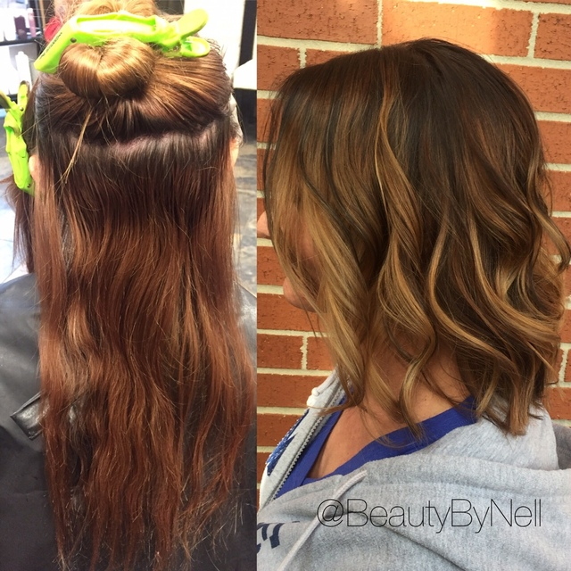 Before and after makeover by Danelle Pease. IG: @beautybynell