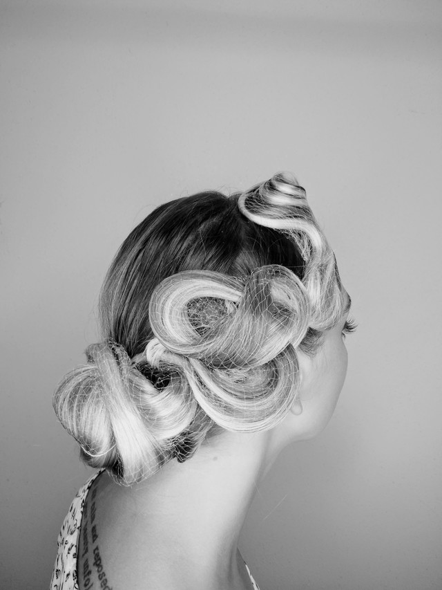 Ballroom sculpted hair
