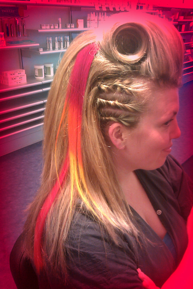 "Masquerade Party Hair """"Katniss Inspired"""""