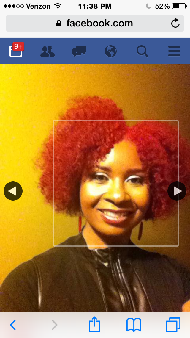 Vivid red afro
