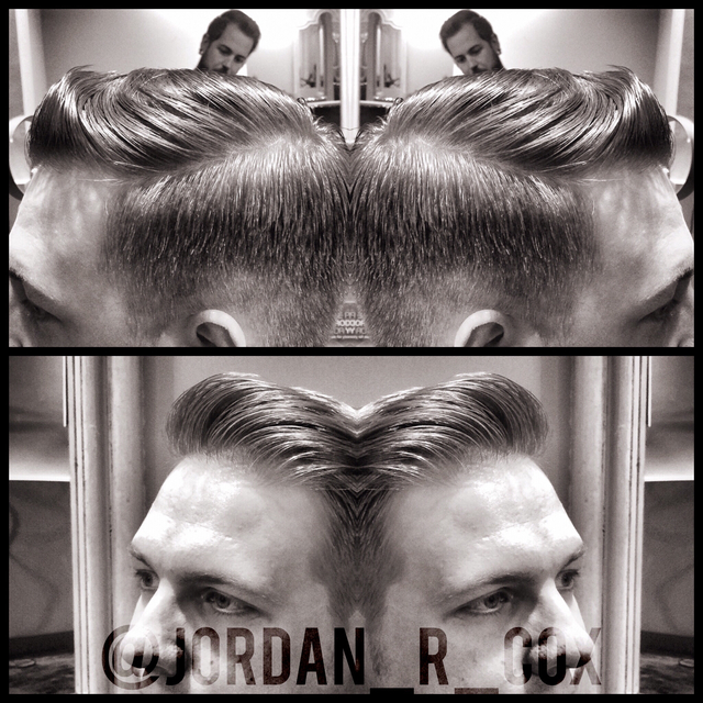 Scissor over comb men's haircut