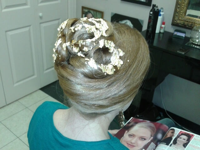 Gold leaf updo