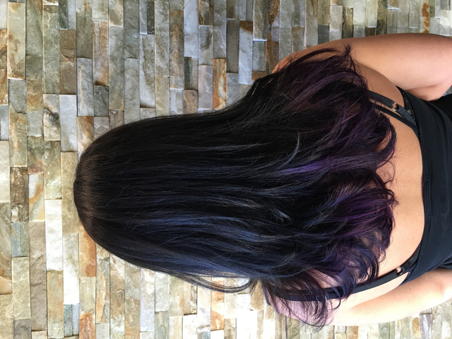 Black with purple ombre
