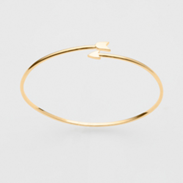 PINK LOU LOU Arrow Bangle in 18ct Gold Plate