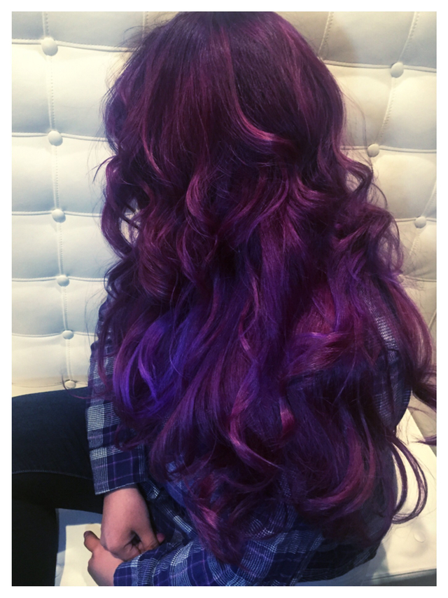 Velvet Violet Color Craving Bangstyle