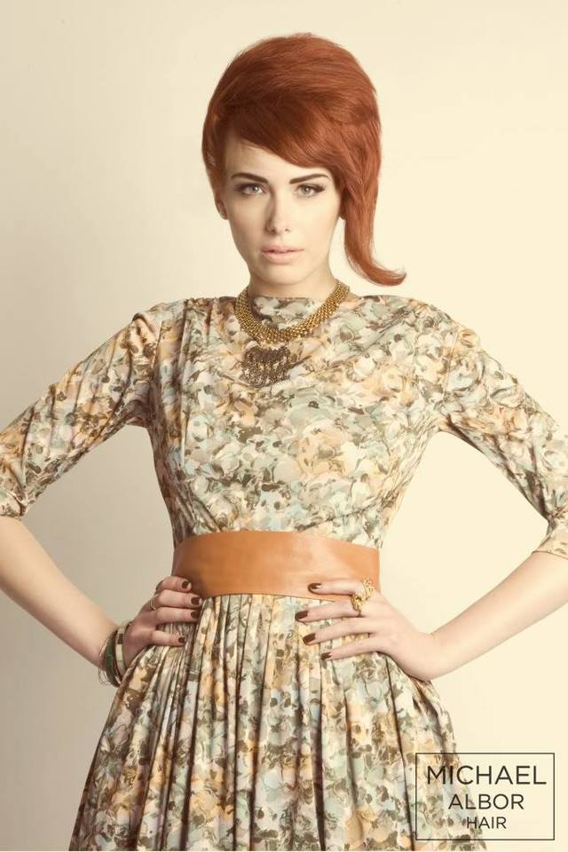 Loving this fierce retro inspired redhead!  Photographer Kara Kochalko