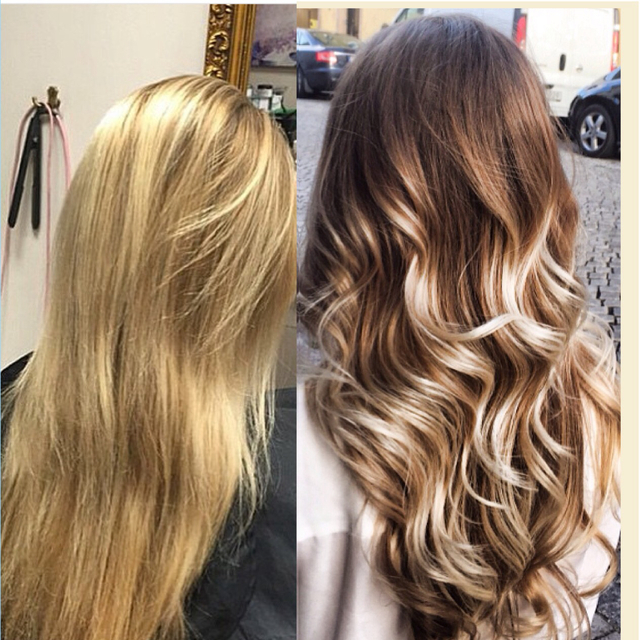 Balayage with Olaplex.