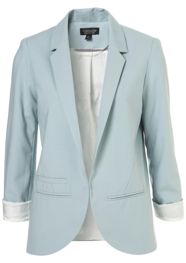 topshop-structured-blazer-pale-blue
