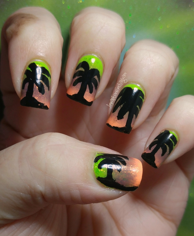Gradient palm trees