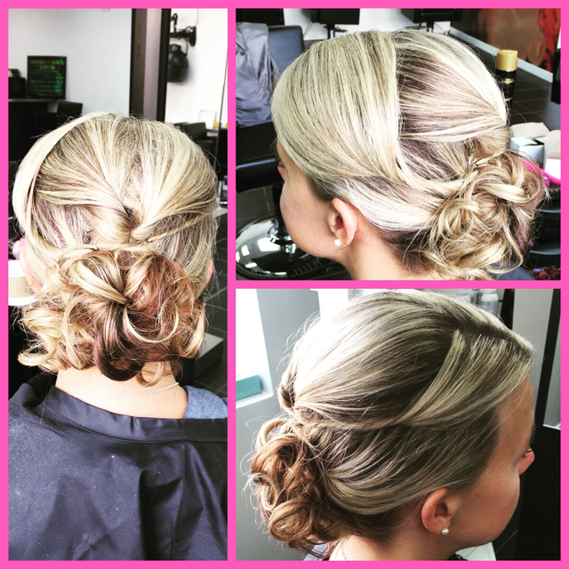 bridal party updo