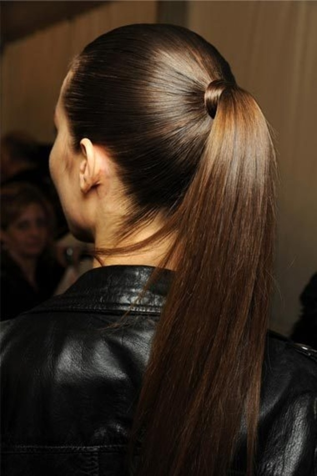 Sleek ponytail-1