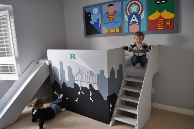 Superhero-themed-boys-room
