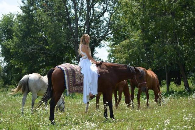 Mary with Her Horses